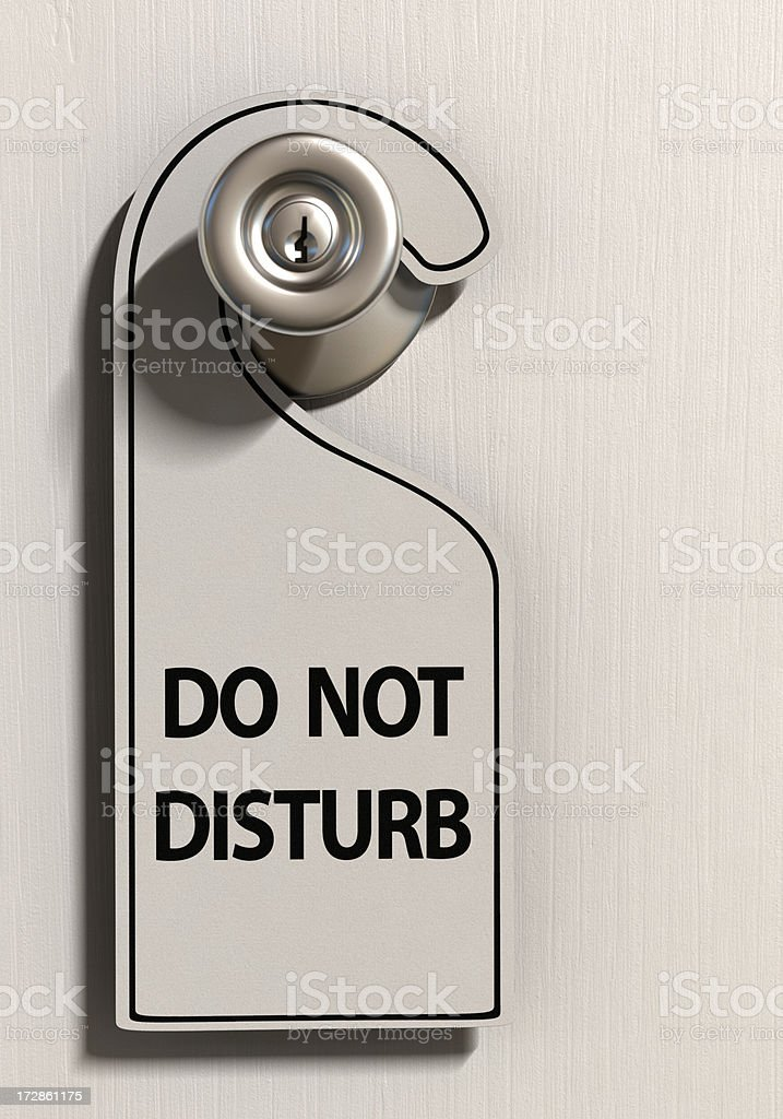 Do Not Disturb royalty-free stock photo