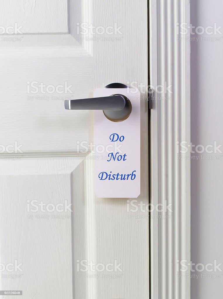 Do Not Disturb - white royalty-free stock photo