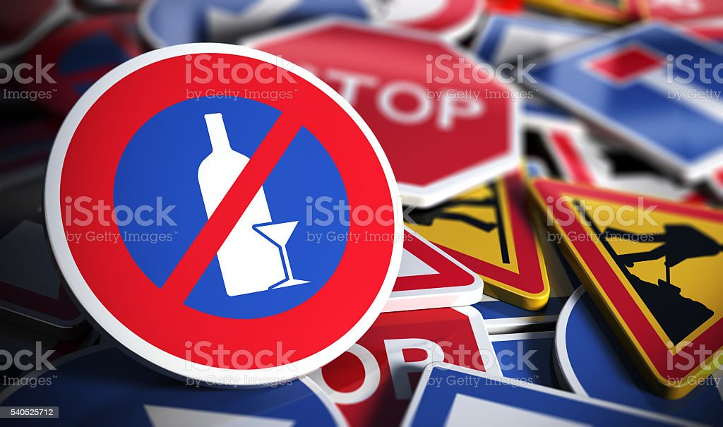 Do not Drink and Drive stock photo