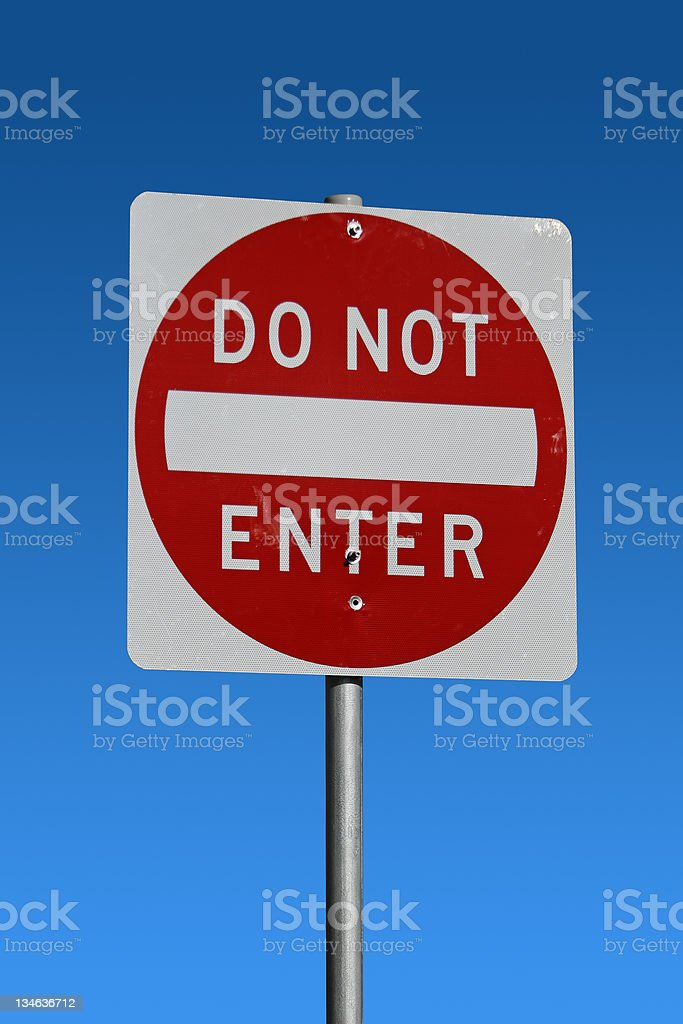 Do Not Enter royalty-free stock photo