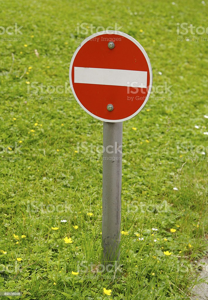 Do not enter the meadow royalty-free stock photo