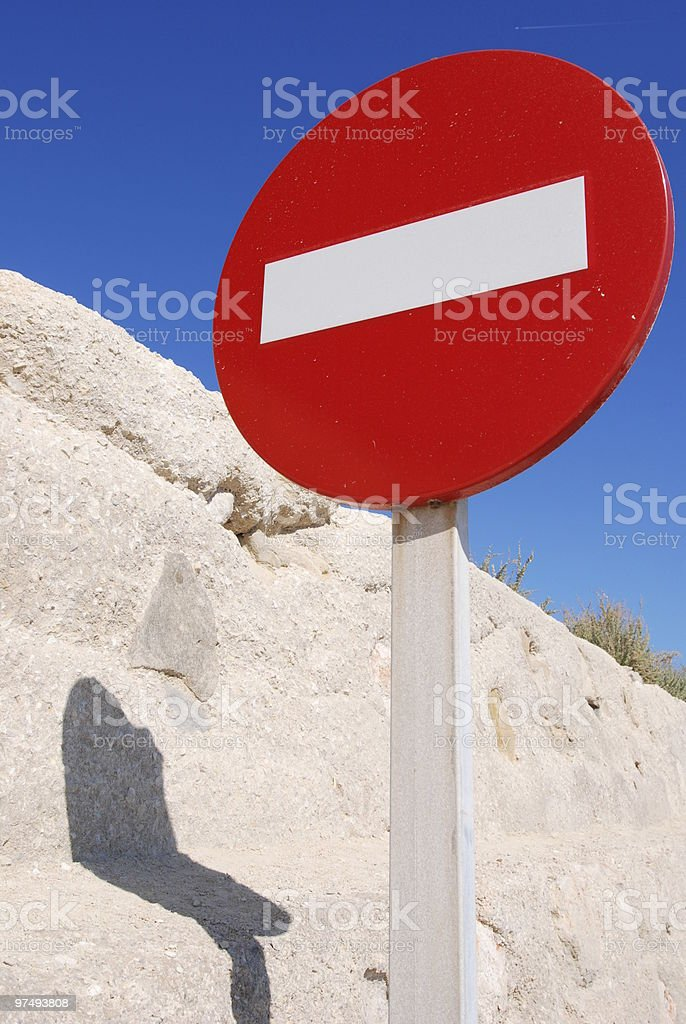 Do not enter traffic sign over blue sky royalty-free stock photo