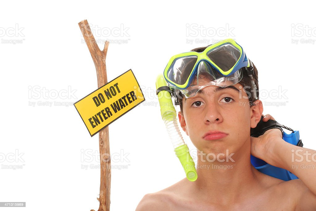 Do Not Enter Water royalty-free stock photo