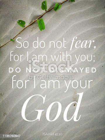 istock Do not fear from bible verse design for Christianity. 1135260947