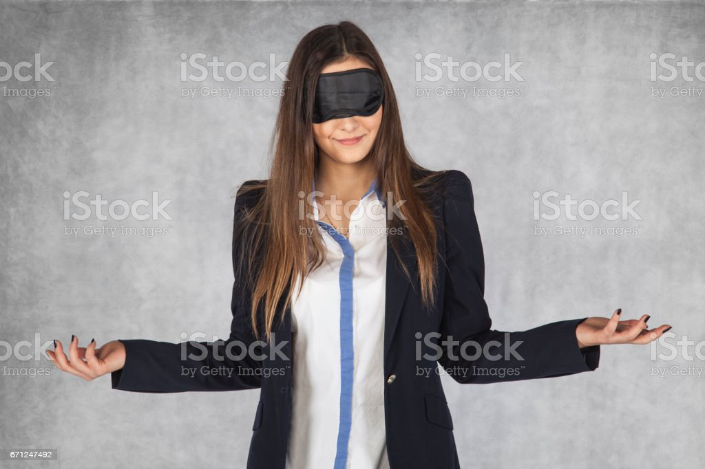 I do not know what I choose, blind luck stock photo