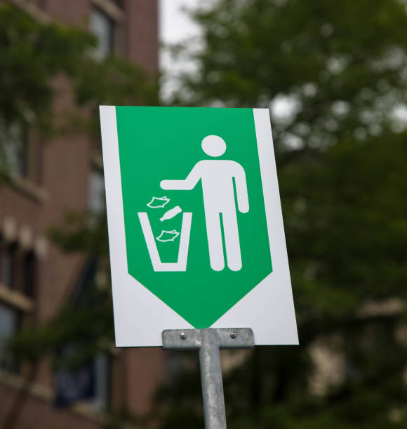 Do not litter help keep your community clean sign stock photo