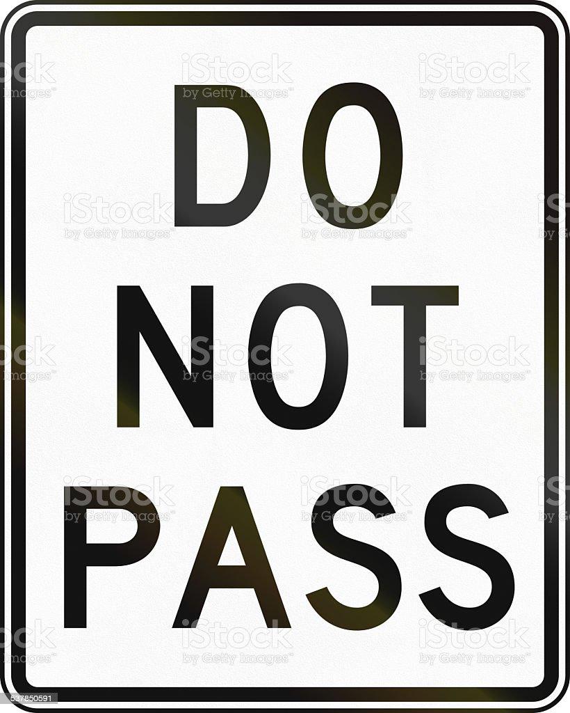 Do Not Pass stock photo