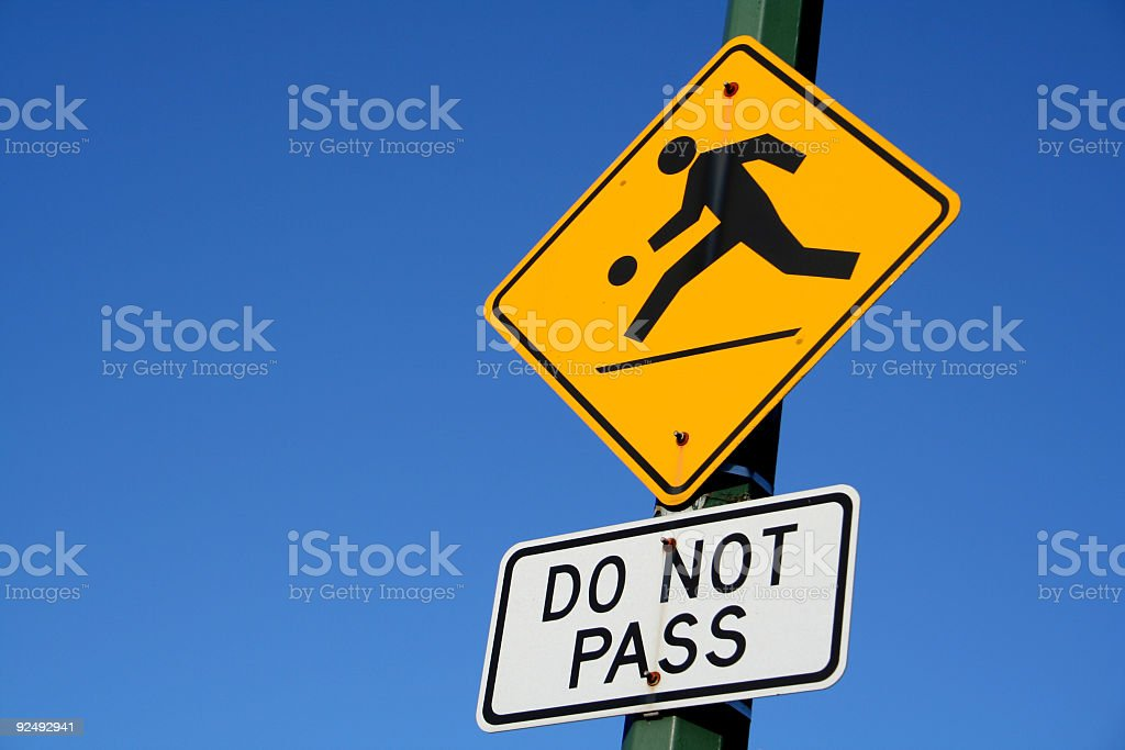 Do Not Pass royalty-free stock photo