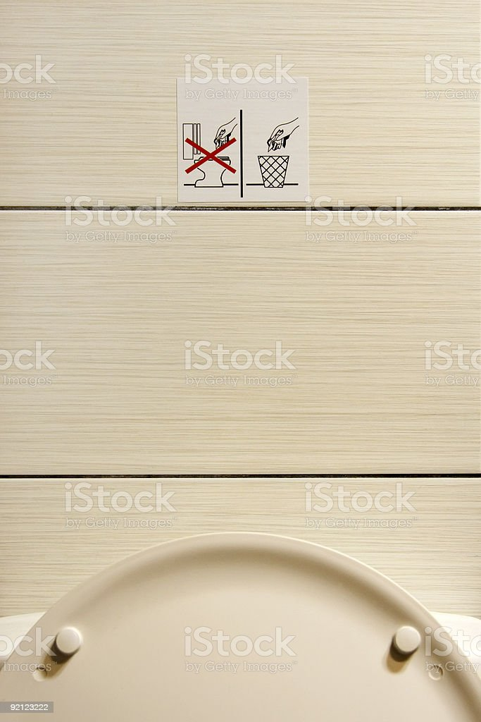 Do Not Throw Paper in The Toilet stock photo
