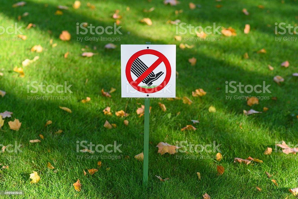 Nicht zu Fuß auf dem Rasen – Foto