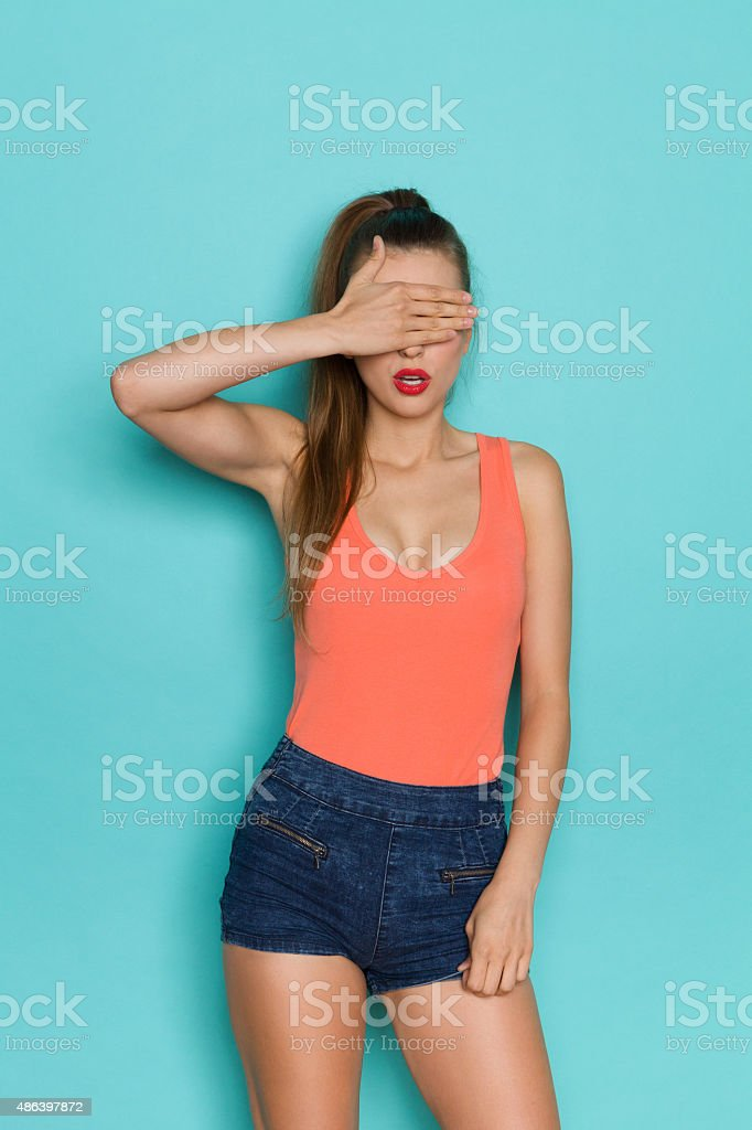 I Do Not Want To Look At It stock photo
