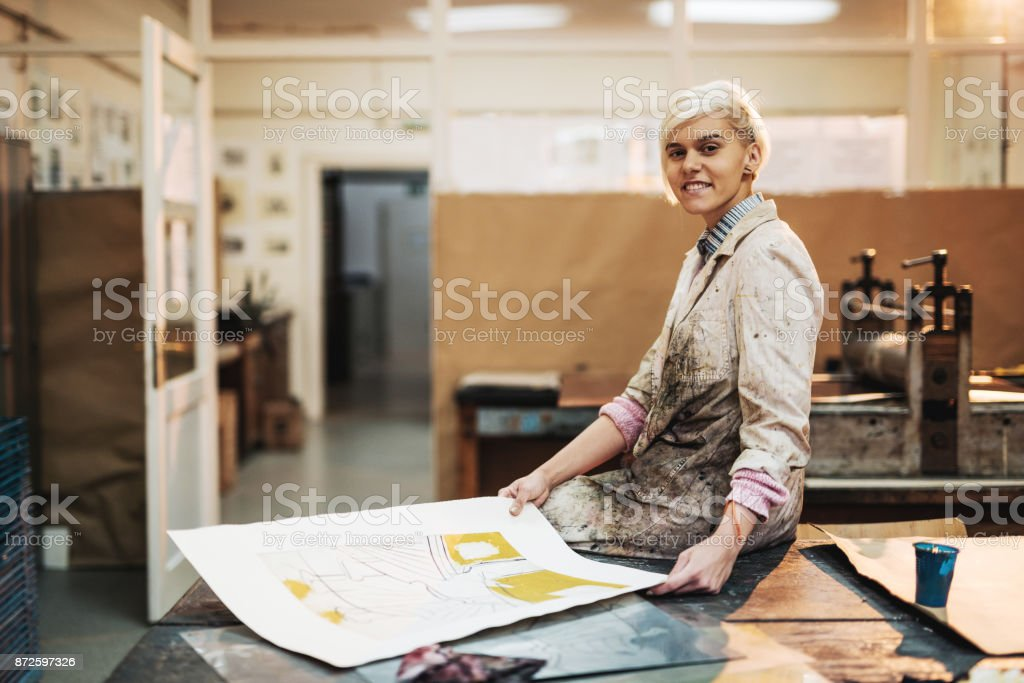I do what I love - art is my life stock photo
