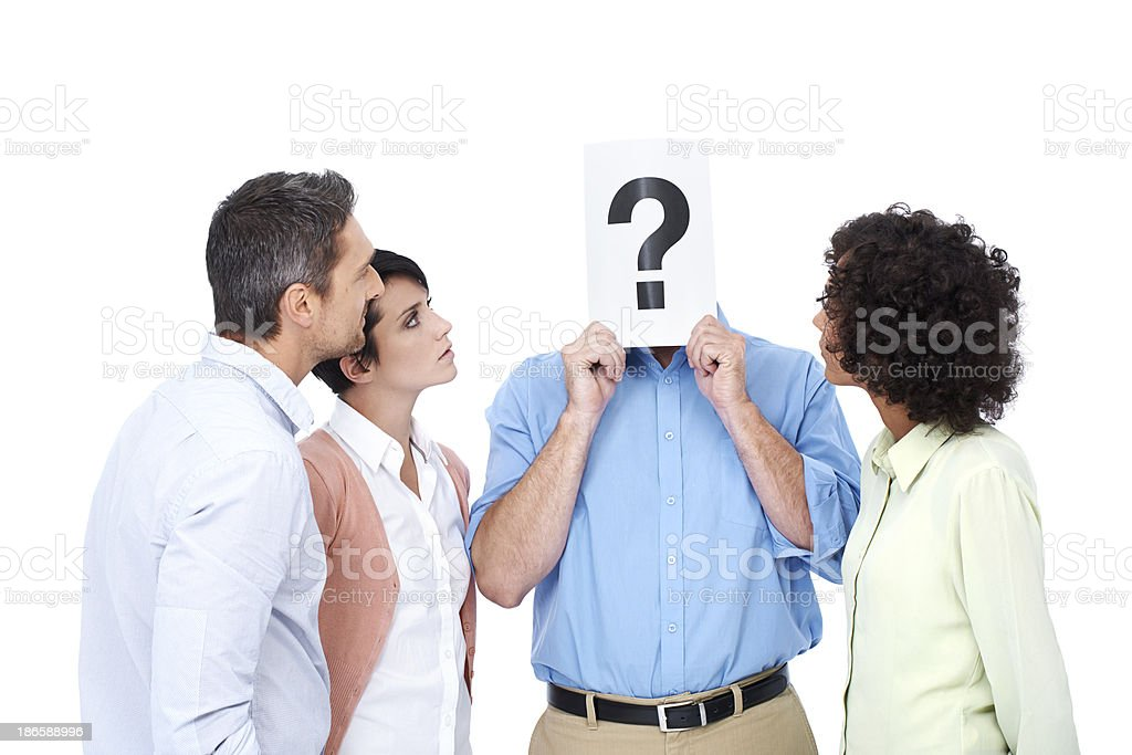 Do you have the answers? royalty-free stock photo