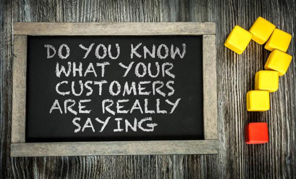 你知道你的客戶真正在說什麼嗎? - 諺語 個照片及圖片檔