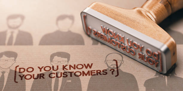 KYC, Do You Know Your Customers ? 3D illustration of a rubber stamp with the phrase do you know your customers ? KYC or CDD Customer Due diligence Concept. wisdom stock pictures, royalty-free photos & images