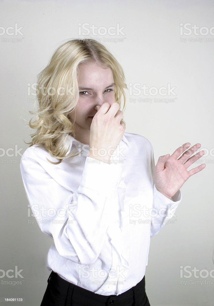 do you smell something? royalty-free stock photo