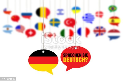 Do You Speak German? - Sprechen Sie Deutsch? Concept on Speech Bubbles