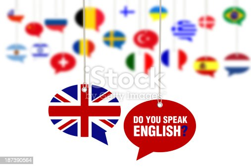 istock Do You Speak English? Concept on Speech Bubbles 187390564