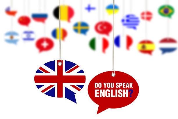 ¿habla español? Concepto de discurso burbujas - foto de stock