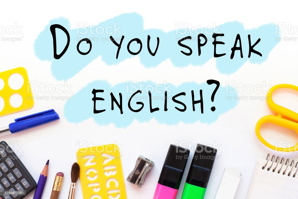 do you speak english, learning concept, school of foreign language