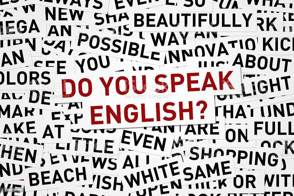 Do You Speak English? royalty-free stock photo