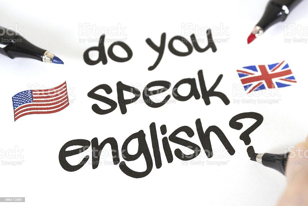 Do You Speak English? royalty-free stock photo