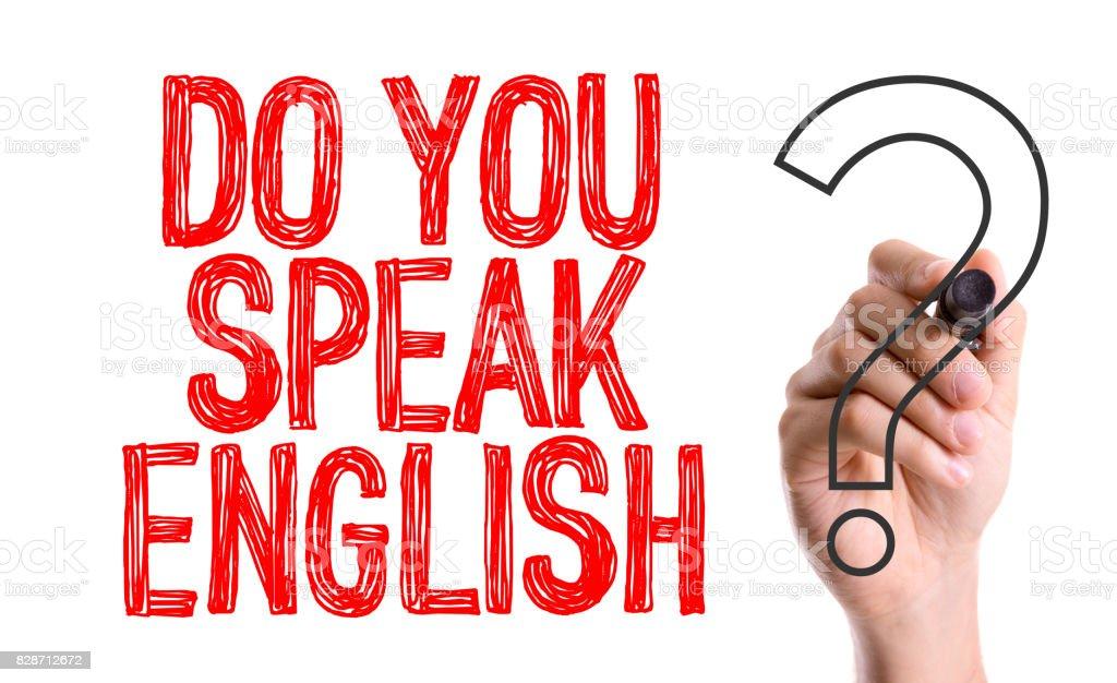 英語を話しますか? ストックフォト