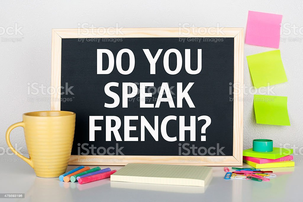 Do You Speak French Language stock photo