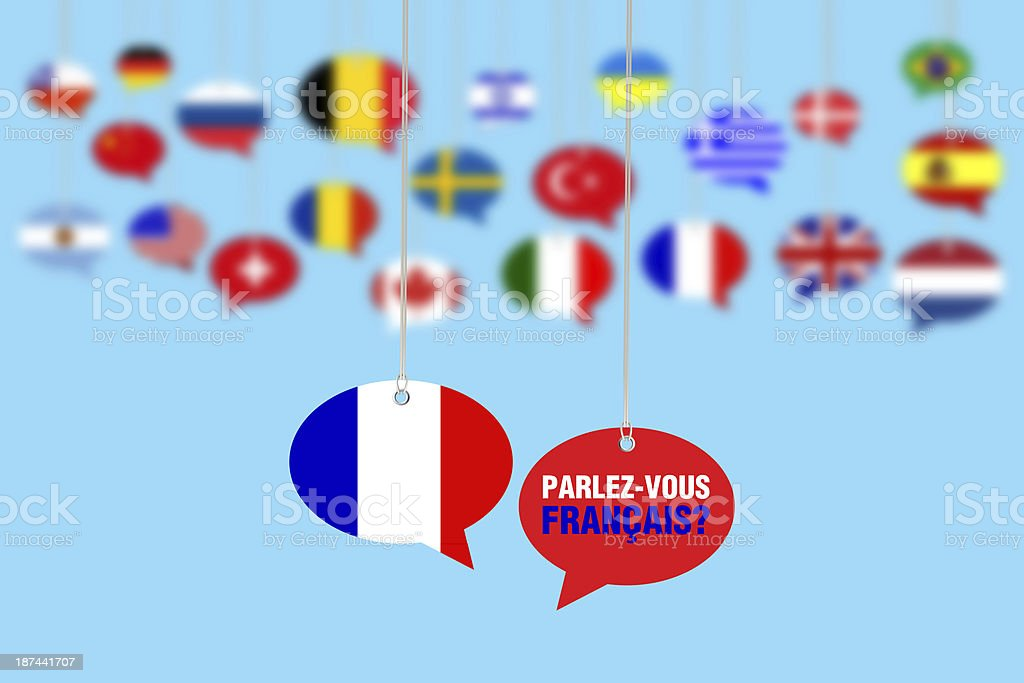 Do You Speak French? - Parlez-Vous Français? stock photo