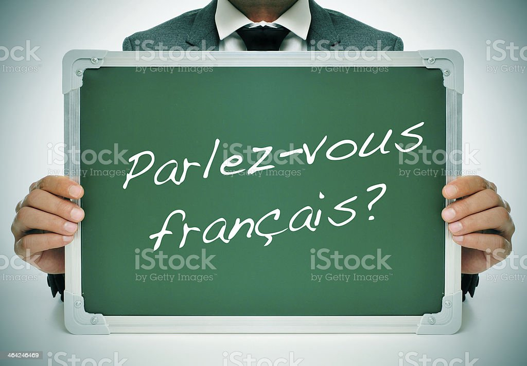do you speak french? stock photo