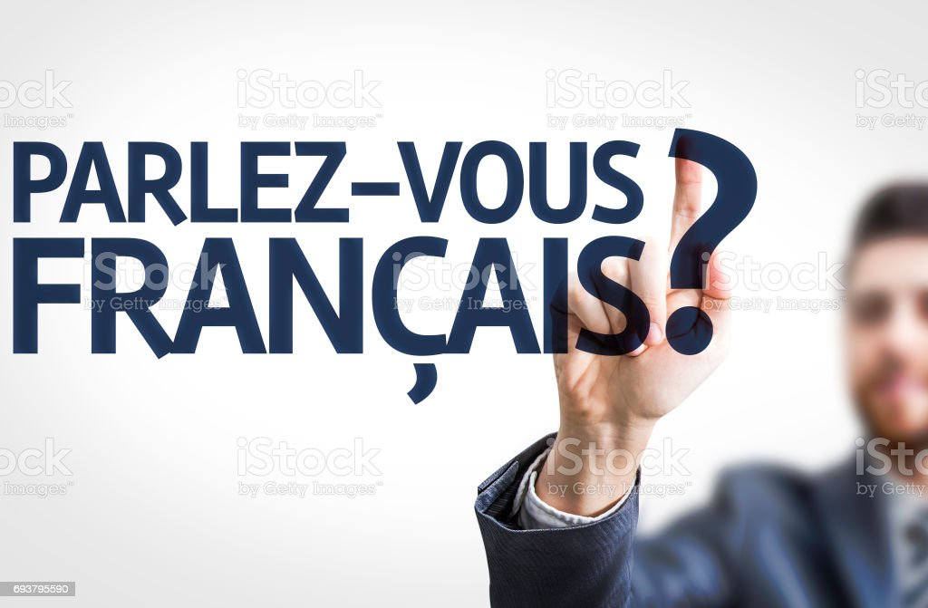 Do You Speak French? (in French) stock photo