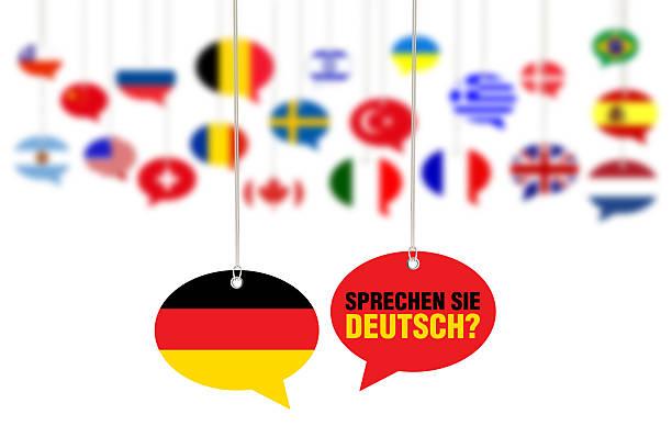 sprechen sie deutsch? - sprechen sie deutsch? - studieren in deutschland stock-fotos und bilder