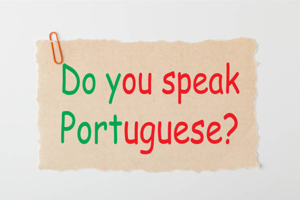 Do you speak Portuguese stock photo