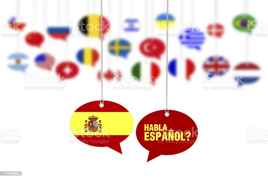 Do You Speak Spanish? - Habla Espanol? stock photo