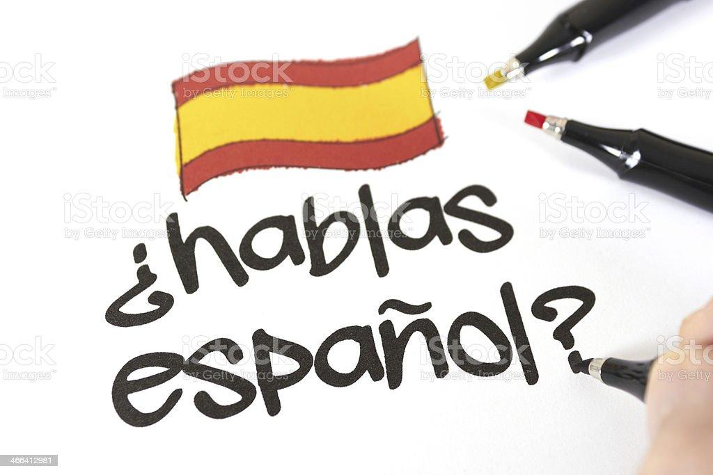 Do you speak spanish? stock photo