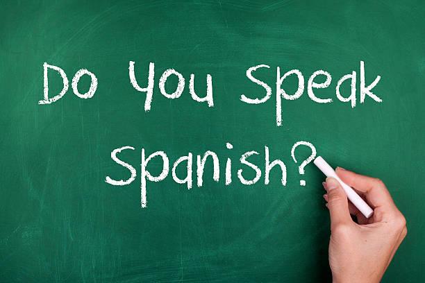 sprechen sie spanisch - spanisch translator stock-fotos und bilder