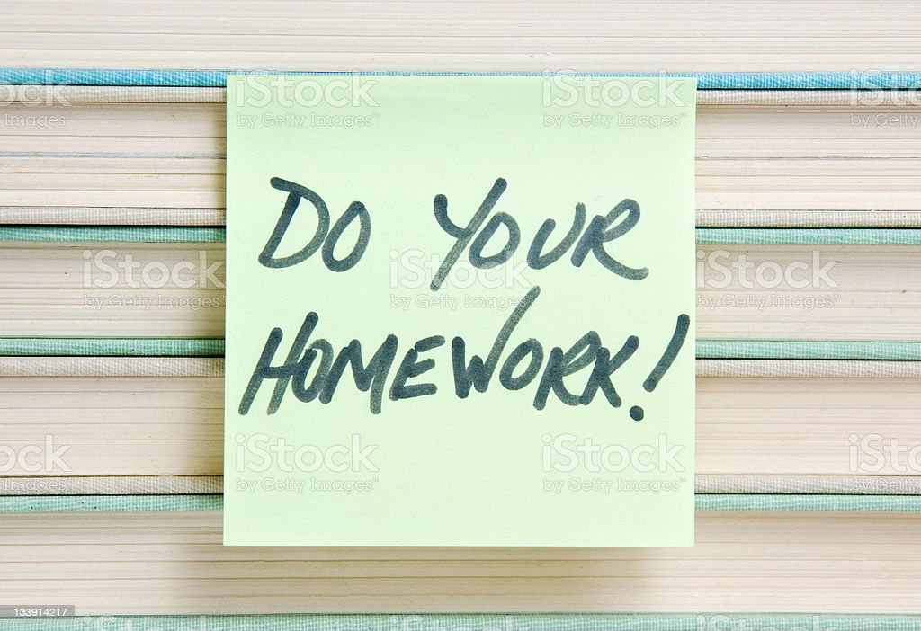 Do Your Homework royalty-free stock photo