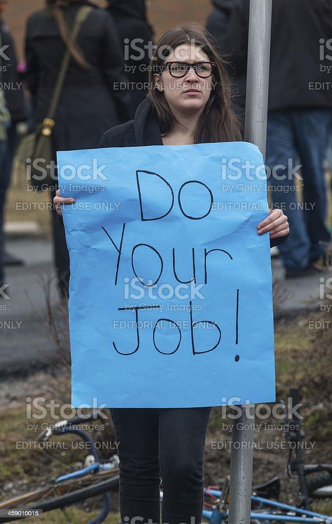 Do Your Job stock photo
