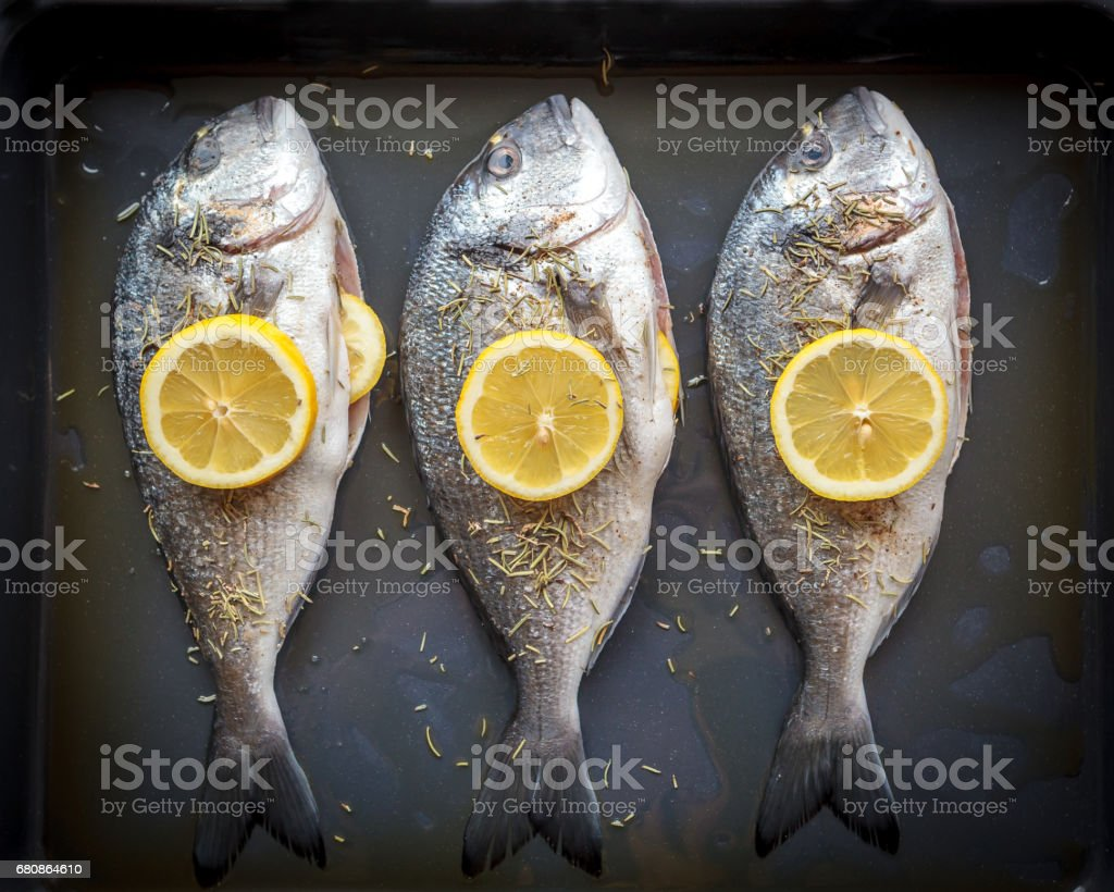 Doardo fishes prepared for cooking royalty-free stock photo