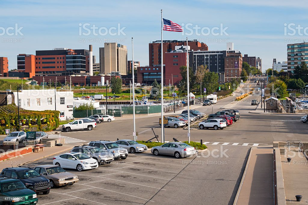Dobbins Landing State Street Waterfront Erie Pennsylvania USA stock photo