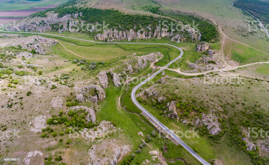 Dobrogea Gorges near Delta Dunari and Constanta Romania stock photo