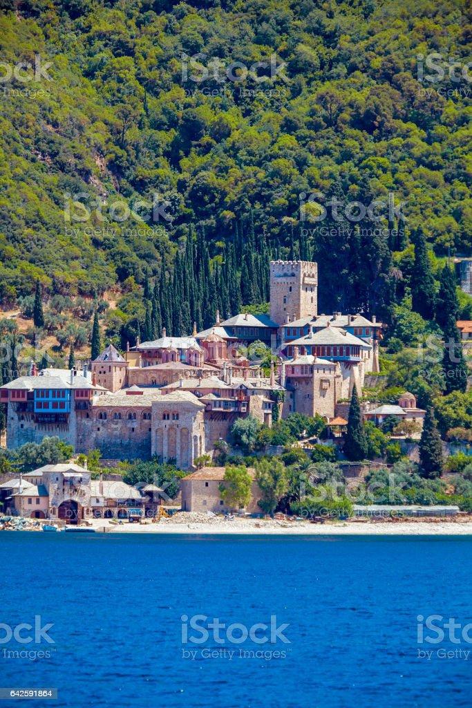 Dochiariou Monastery, Mount Athos stock photo