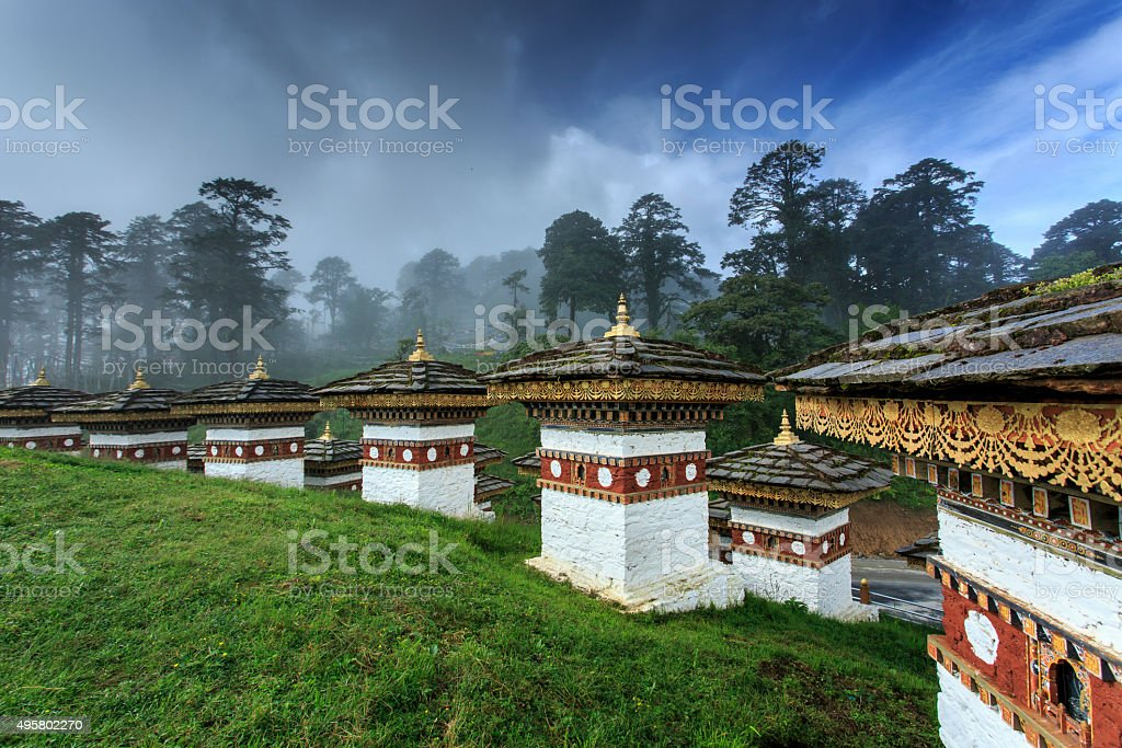Dochula Pass, Bhutan stock photo