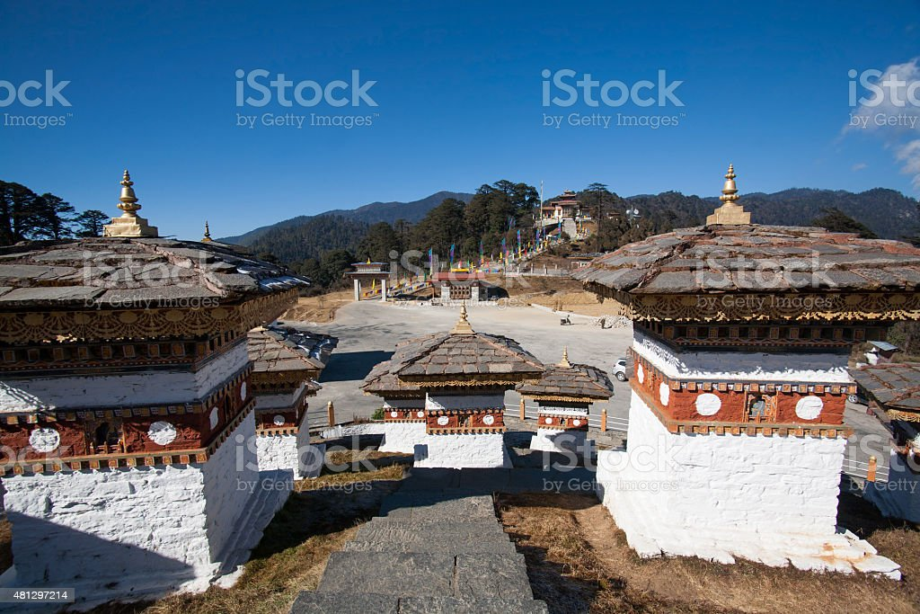 Dochula pass, Thimphu, Bhutan stock photo