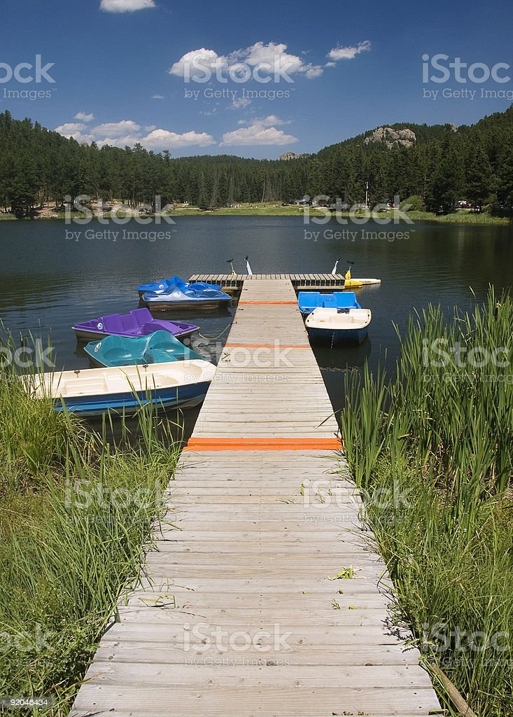 Dock and boats royalty-free stock photo