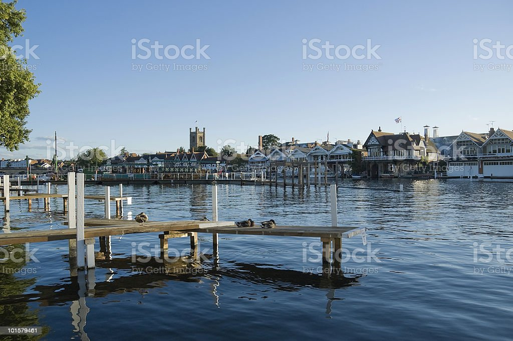 Dock and harbor of Henley-on-Thames stock photo
