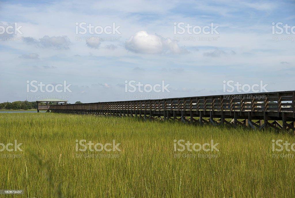 dock and marsh royalty-free stock photo