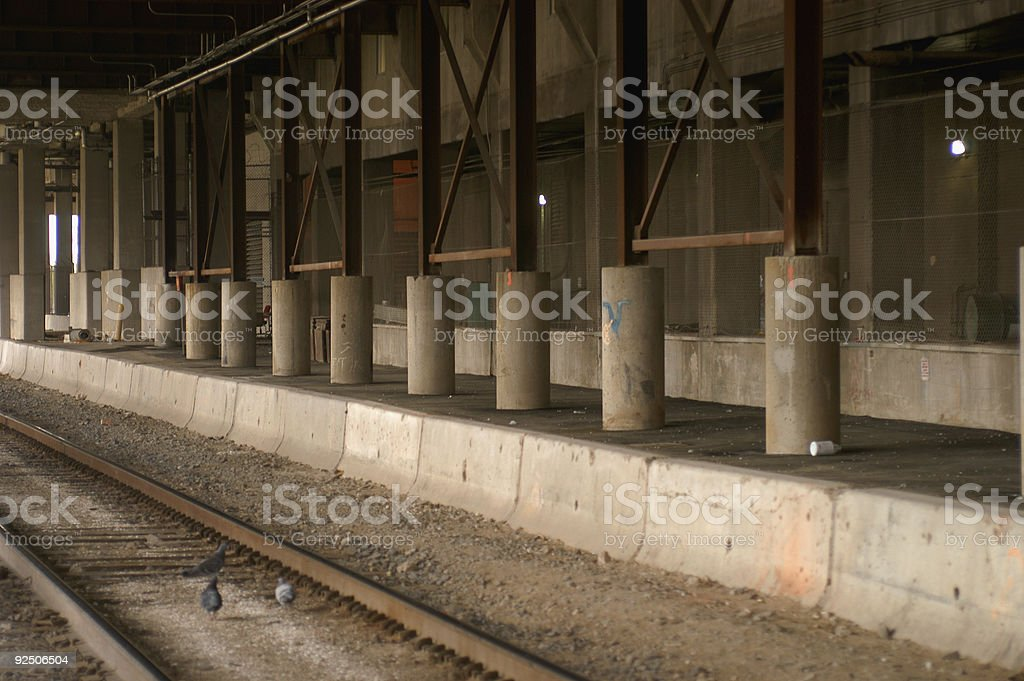 Dock and Rail royalty-free stock photo