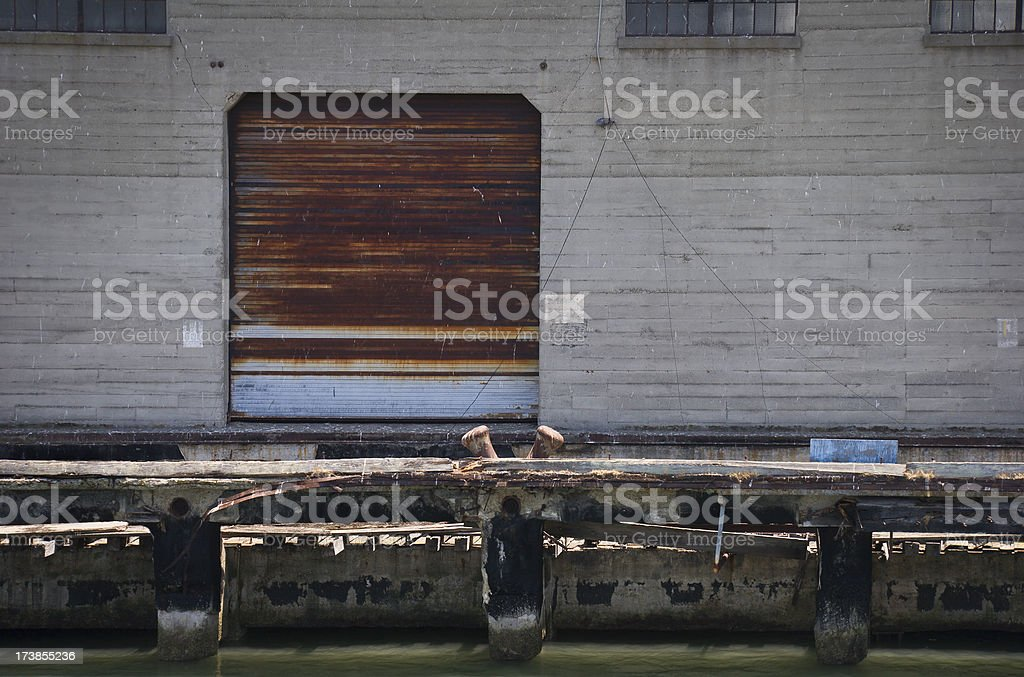 Dock and Warehouse stock photo