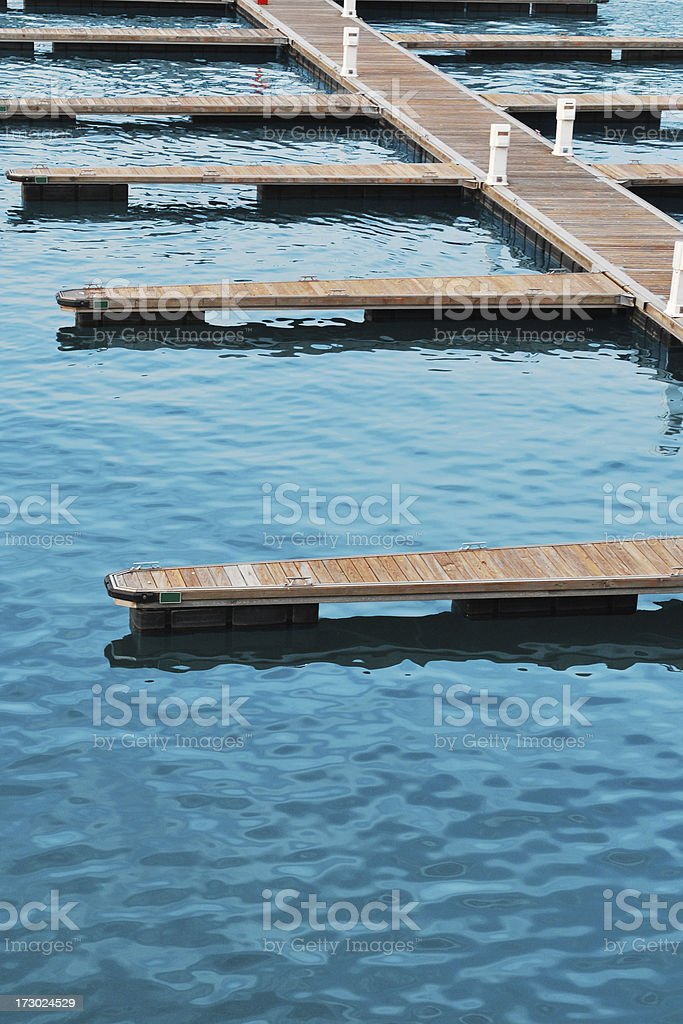 Dock and water stock photo